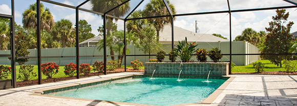 Tampa pool enclosures florida pool enclosure repair costs - Swimming pool screen enclosures cost ...